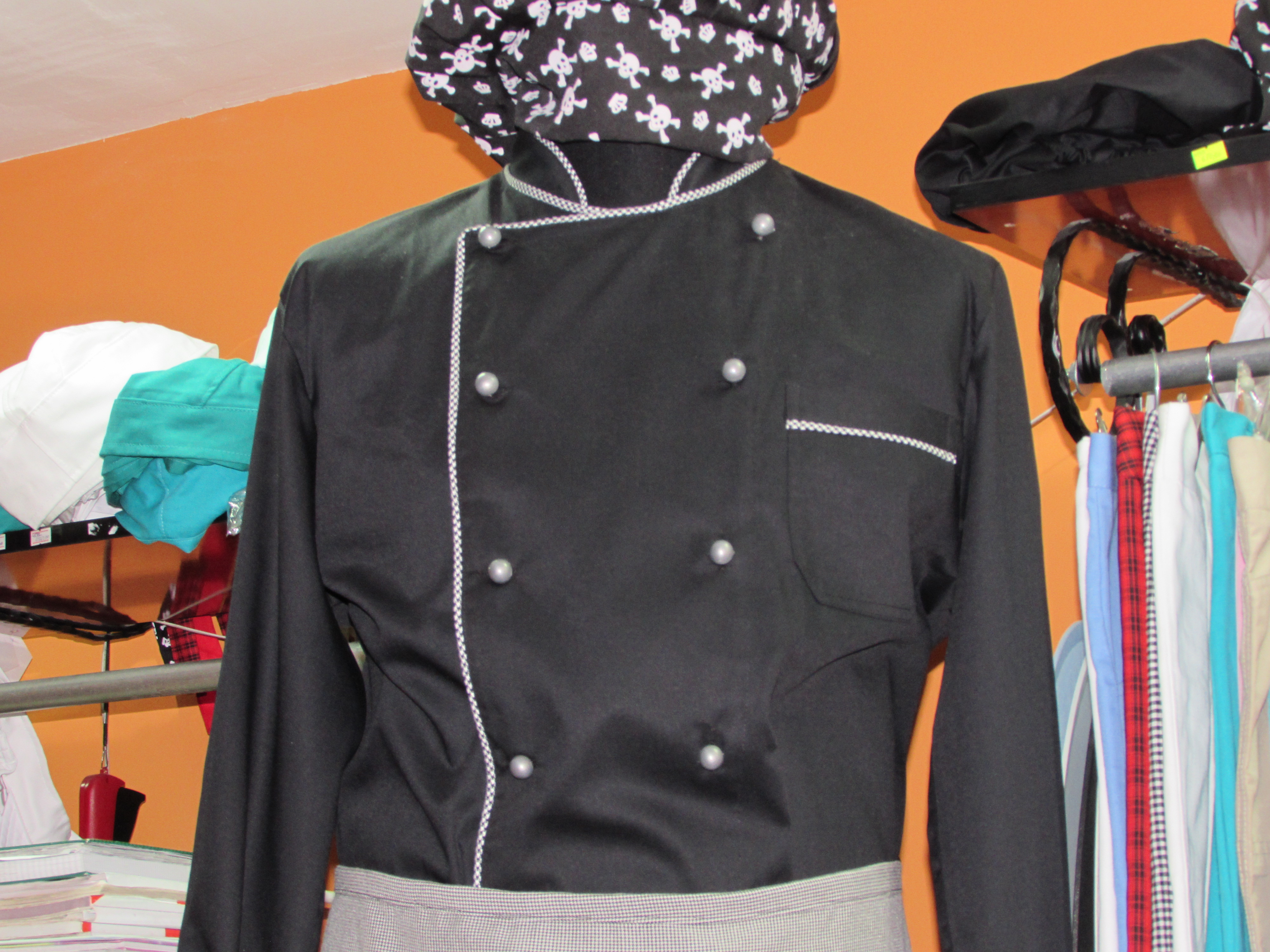 Crna kuvarska bluza-65% pes 35% viskoza
